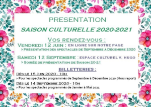 //ANNULE // Présentation Saison Culturelle 2020/2021 (1ère partie) // ANNULE// @ Live Facebook